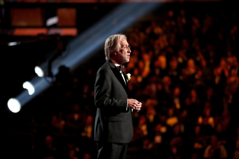 Image: Neil Portnow speaks at the Grammy Awards