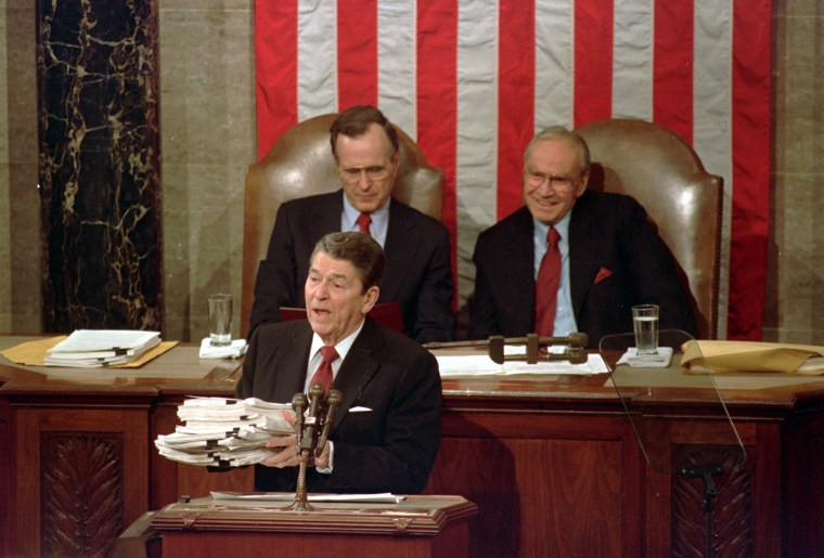 Image: Ronald Reagan, George H.W. Bush, Jim Wright