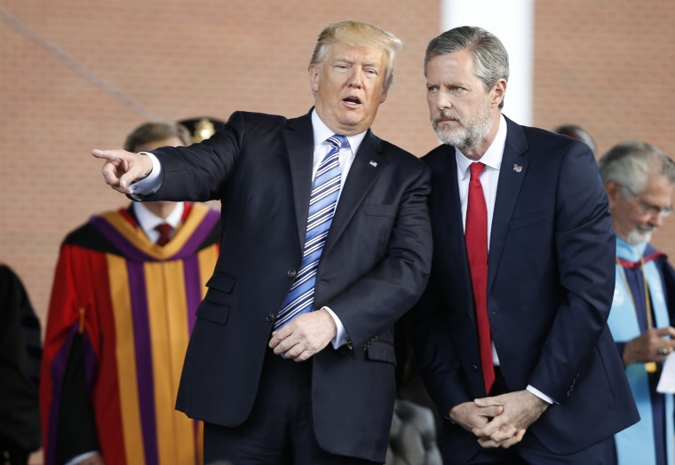 Image: Donald Trump,Jerry Falwell Jr.