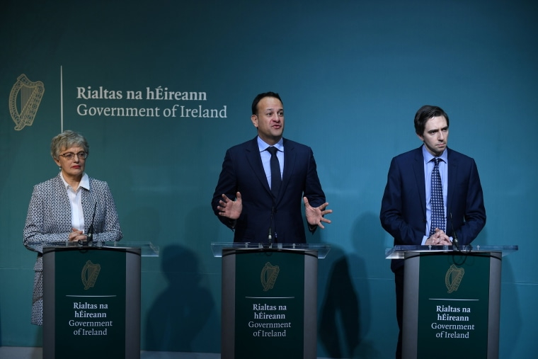 Image: Taoiseach (Prime Minister) of Ireland Varadkar speaks at a news conference, announcing that the Irish Government will hold a referendum on liberalising abortion laws at the end of May, in Dublin