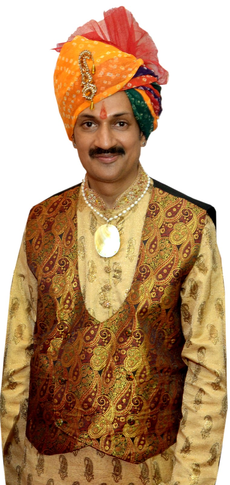 A portrait photo of Prince Manvendra Singh Gohil.