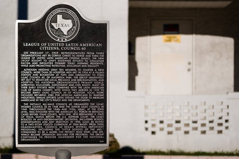 LULAC's Council 60 clubhouse outside Houston, Texas has been designated a National Treasure for its storied civil rights past.