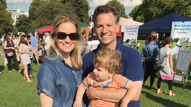 Image: Richard Engel with wife Mary Forrest and Henry