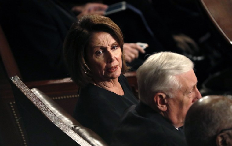 Image: House Minority Leader Pelosi reacts as U.S. President Trump delivers his State of the Union address in Washington