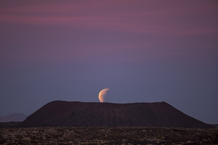 "Image: Rare \""Super Blue Blood Moon\"" Makes Appearance On U.S. West Coast"