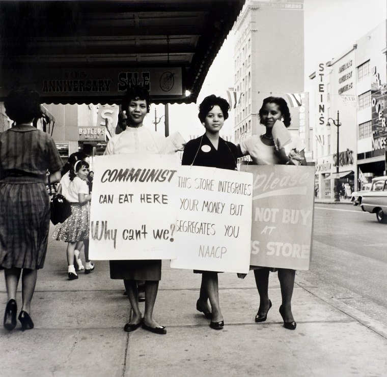 Image: NAACP Protest, Main Street, Memphis, early 1960s.