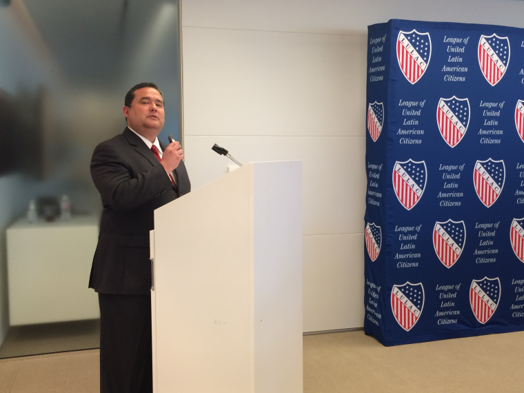 Roger Rocha Jr., president of the League of United Latin American citizens, in a 2015 photo. LULAC members have demanded he resign over a letter he sent to President Donald Trump backing Trump's immigration proposals.