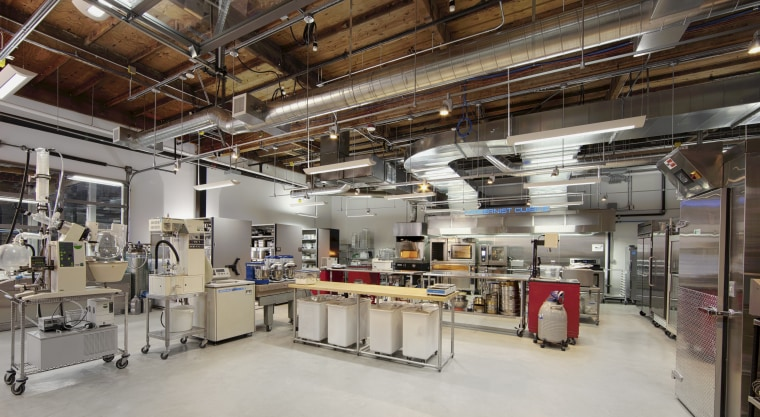 "A view of the industrial laboratory and kitchen where the authors of ""Modernist Bread"" conducted the food experiments and recipes featured in the book."