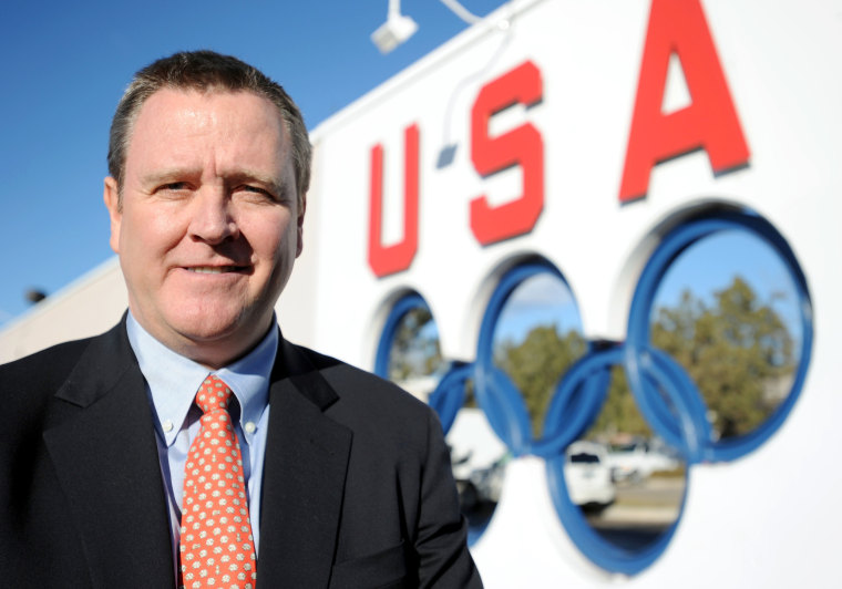 Image: Scott Blackmun, the new chief executive for the USOC, appears at the United States Olympic Training Center in Colorado Springs