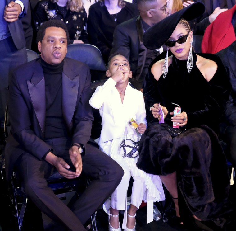 Image: JAY-Z, Blue Ivy Carter, and Beyonc? attend the Grammy Awards in New York