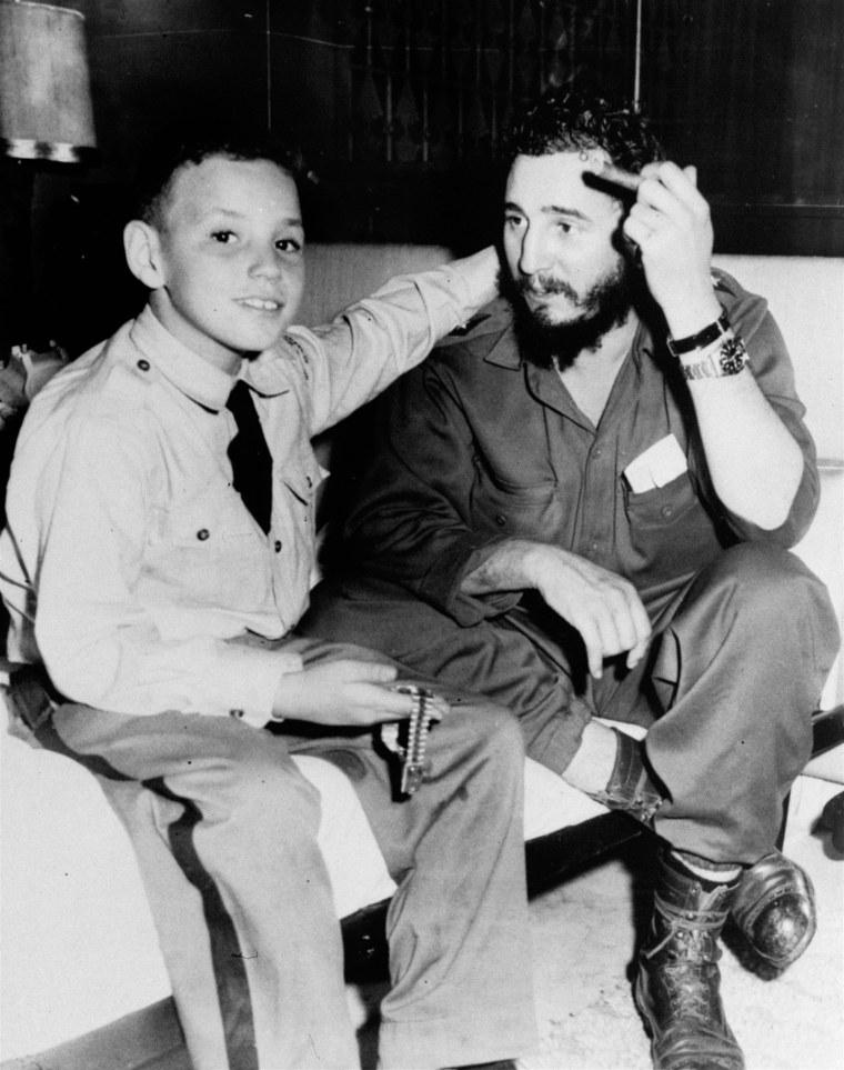 Image: Fidel Castro and son Fidel Castro Diaz-Balart