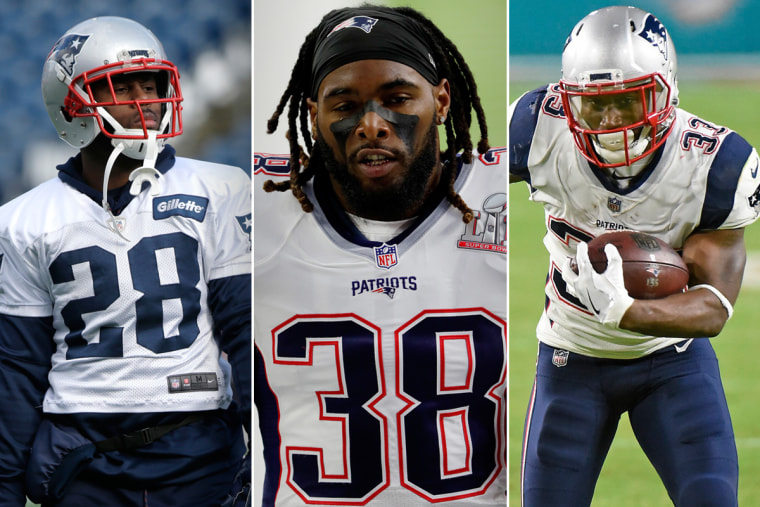 Image: New England Patriots running backs