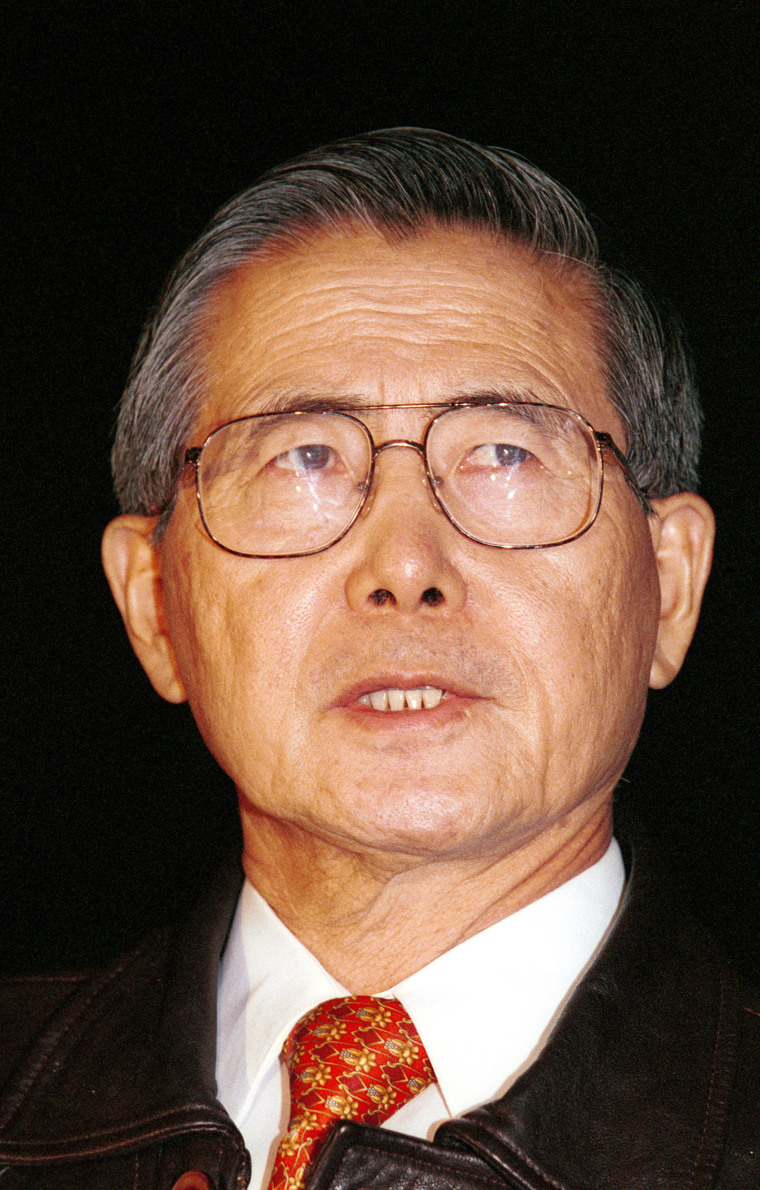 Image: Peruvian President Alberto Fujimori