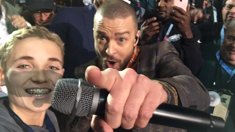 Selfie Kid and Justin Timberlake