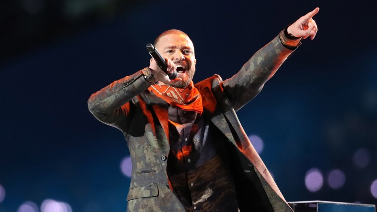 Justin Timberlake Super Bowl halftime performance photo