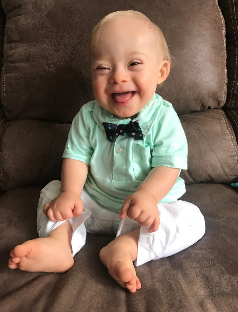 The winning photo of Lucas, submitted by his mom, Cortney Warren, to the Gerber Spokesbaby contest.