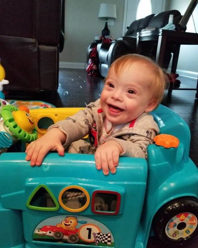 """He may have Down syndrome,"" said Cortney Warren of her son, ""but he's always Lucas first."""