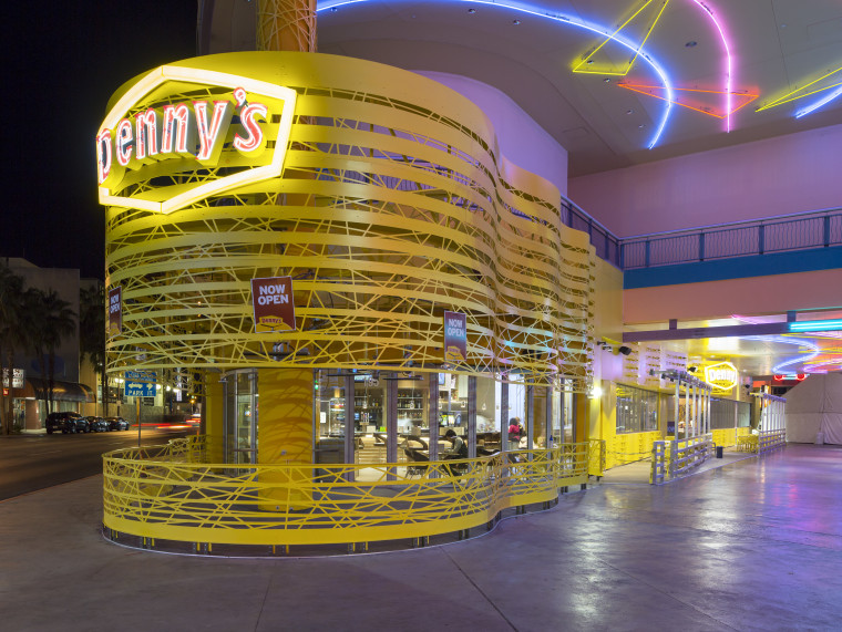 The flagship Denny's on Fremont Avenue in Las Vegas has its own wedding chapel.