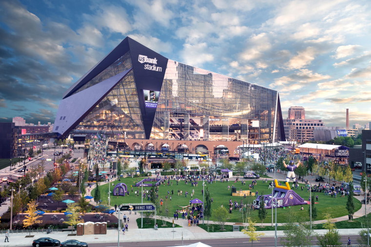 The U.S. Bank Stadium, home of the 2018 Super Bowl