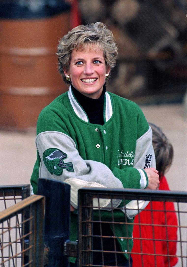 detailed look 88a82 383f6 Princess Diana was a Philadelphia Eagles fan: See the photos