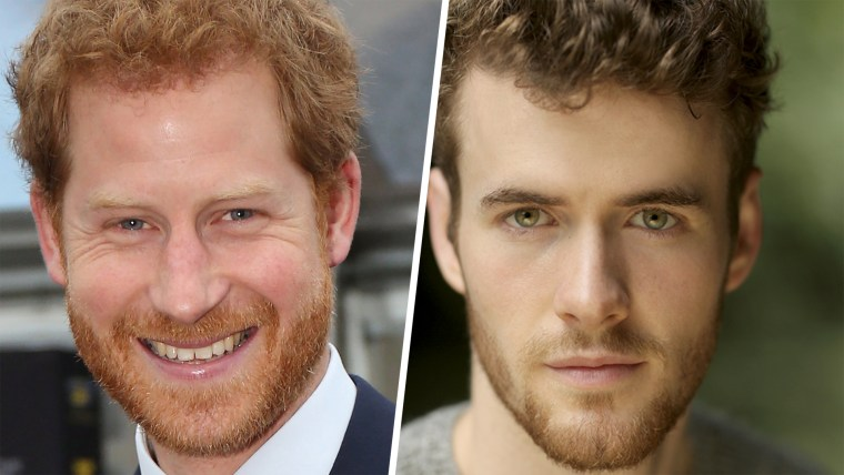 Prince Harry, left, and actor Murray Fraser.