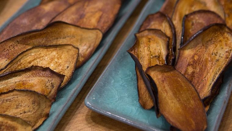 Jenne Claiborne's Crispy Eggplant Bacon