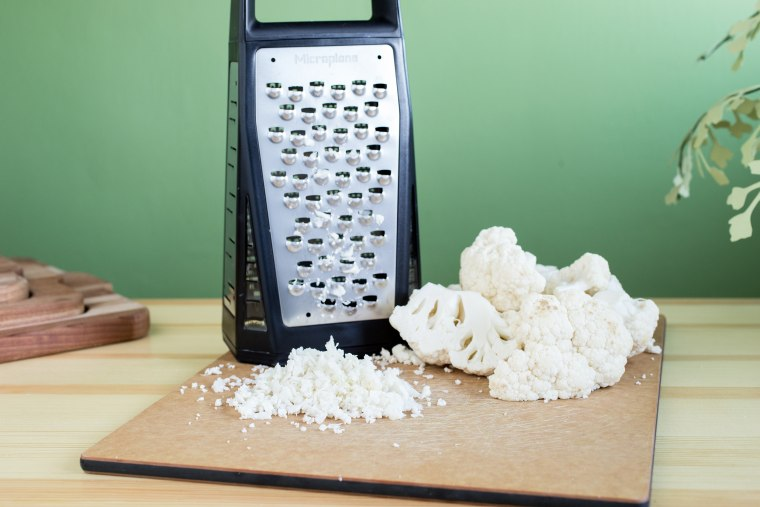 How to make cauliflower rice with a box grater