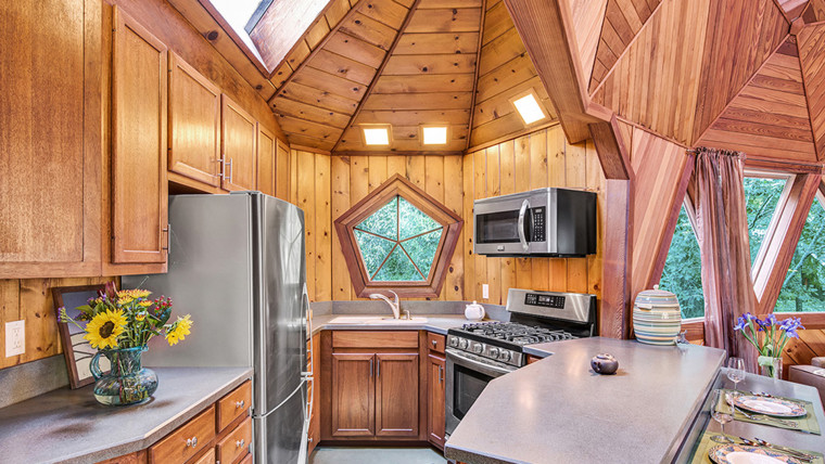 The kitchen is the most recently updated part of the house.