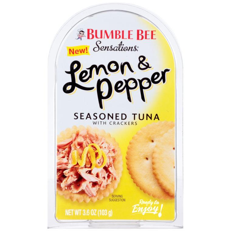 Bumble Bee Sensations Lemon & Pepper Seasoned Tuna with Crackers
