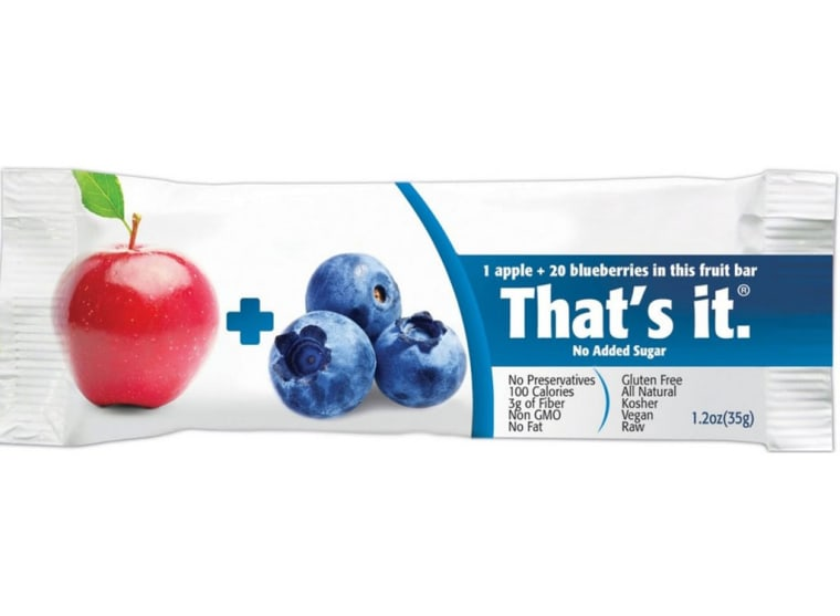 That's It Apple and Blueberry Fruit Bars