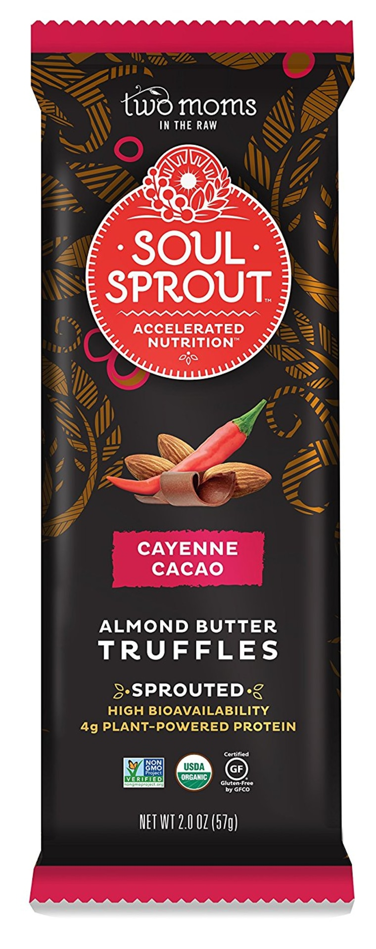 Soul Sprout Cayenne Cacao Almond Butter Sprouted Truffles