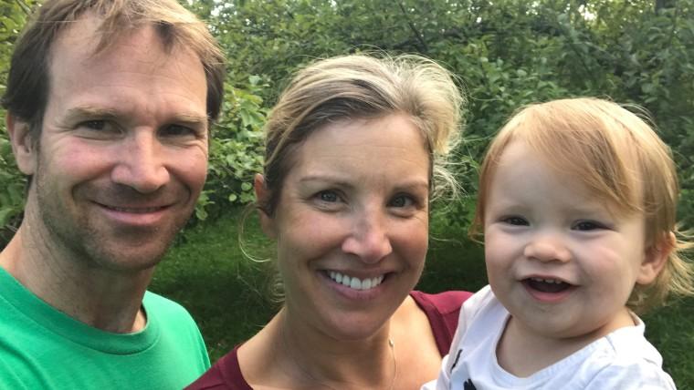 Kristen Dahlgren with her husband and daughter.