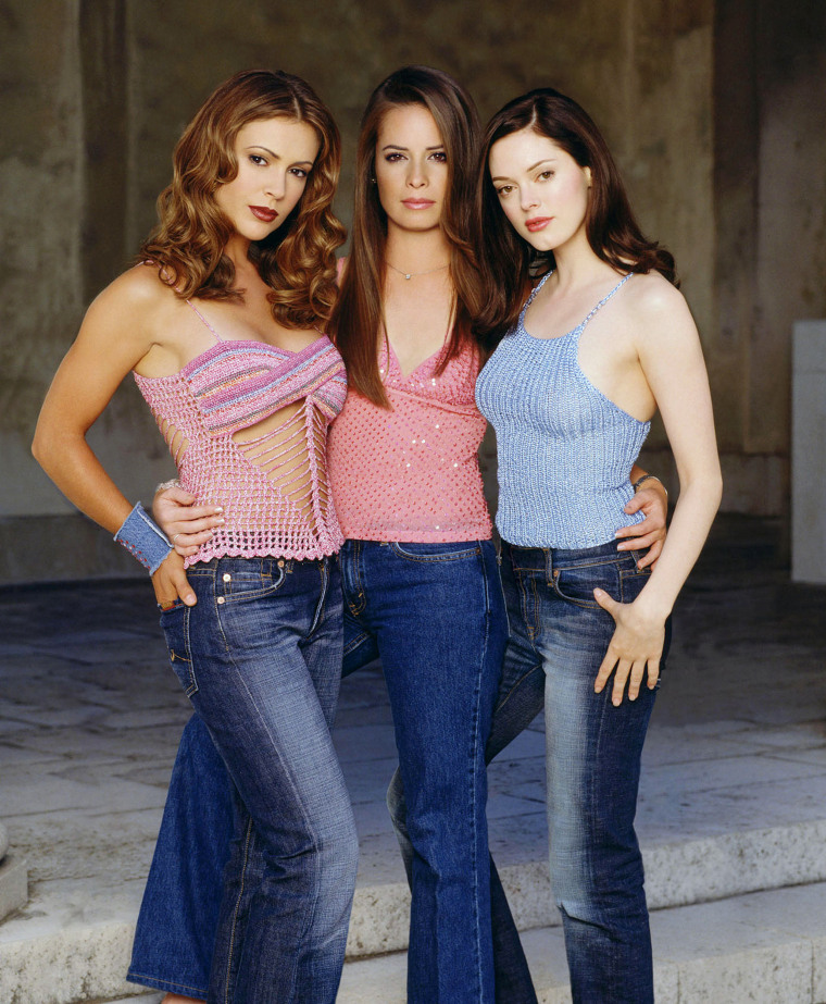 Alyssa Milano, Rose McGowan and Holly Marie Combs in Charmed.