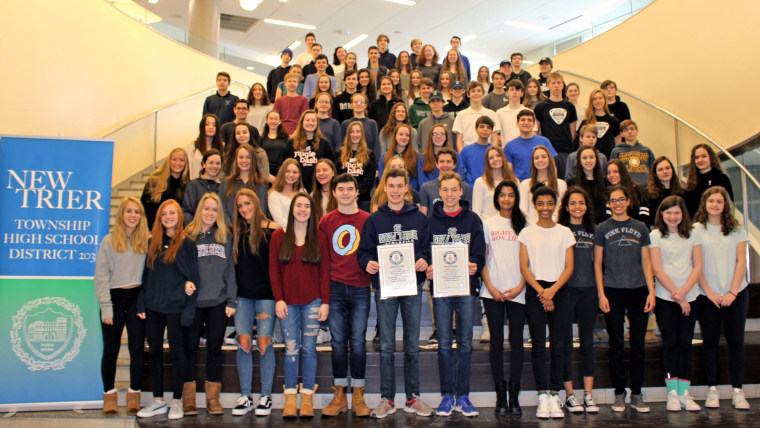 New Trier High outside Chicago has 44 sets of twins, just in it's sophomore class.