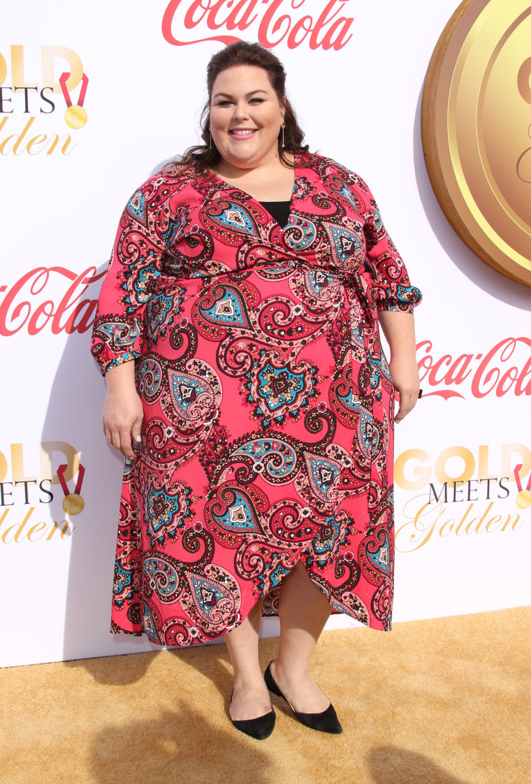 fc0bcb7e5dc Chrissy Metz wears Loft dresses from plus-size collection
