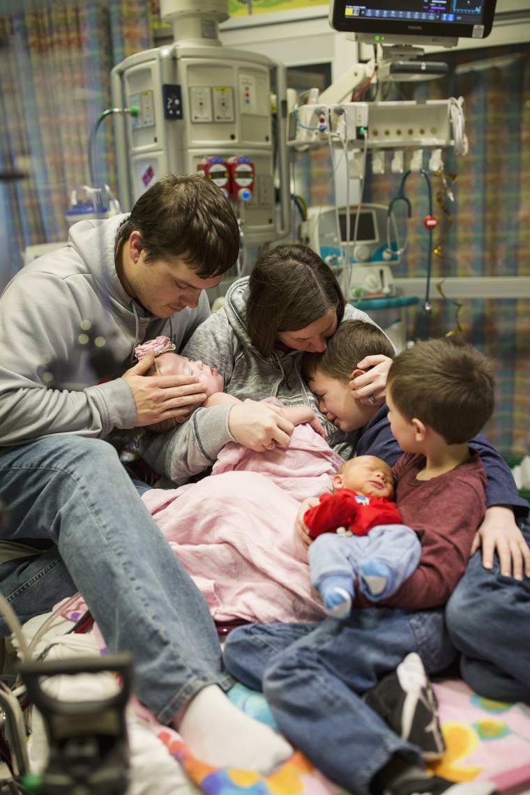 Brothers Camden, 7, Greyson, 5, and Kolton, one month, mourn the loss of their sister.