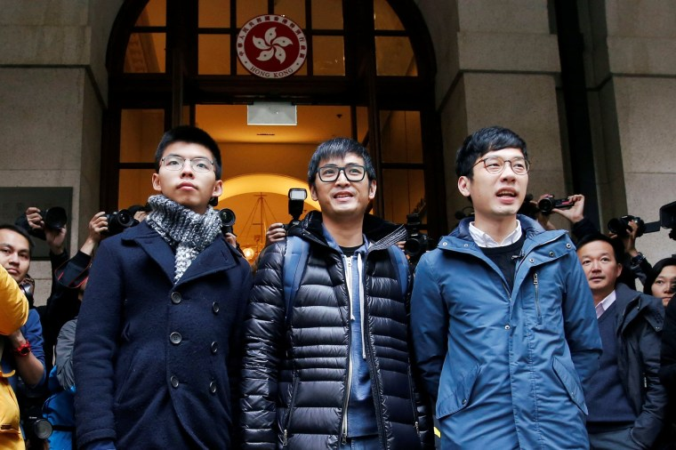 Image: Joshua Wong, Alex Chow and Nathan Law
