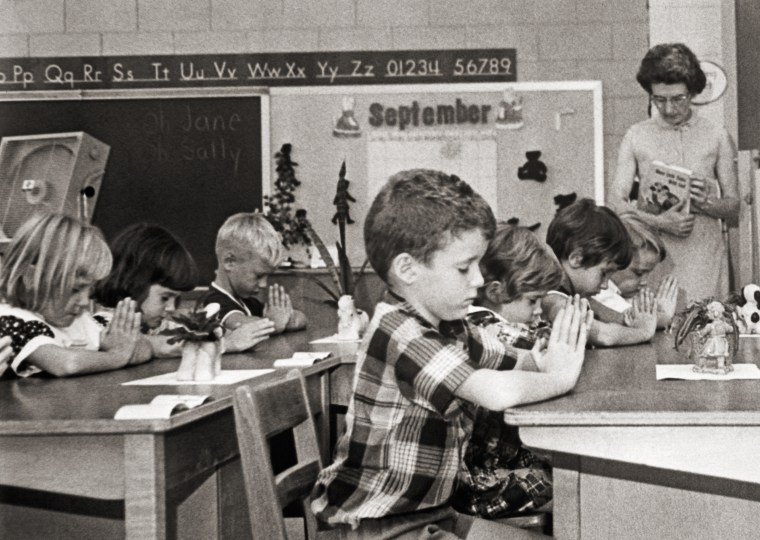 First Graders Pray in Classroom