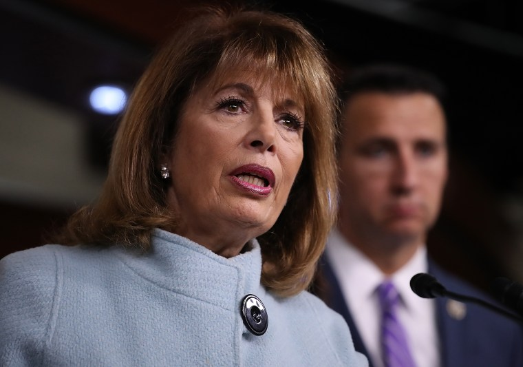 Image: Rep. Jackie Speier, D-Calif., speaks at a press conference on sexual harassment