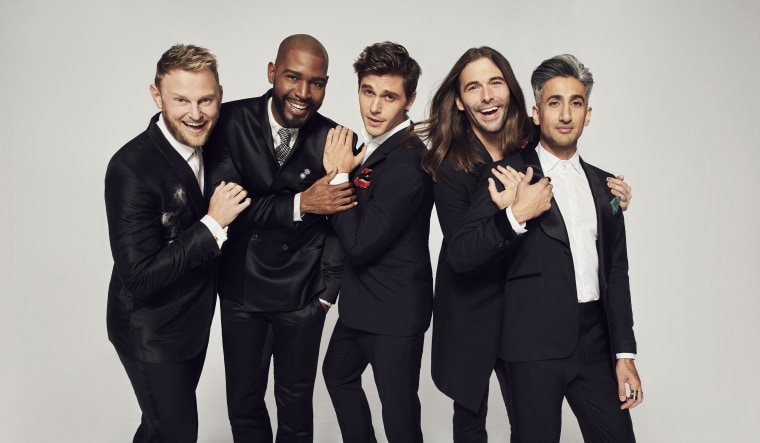 "The cast of Netflix's ""Queer Eye"" reboot includes (L-R) Bobby Berk, Karamo Brown, Antoni Porowski, Jonathan Van Ness and Tan France"