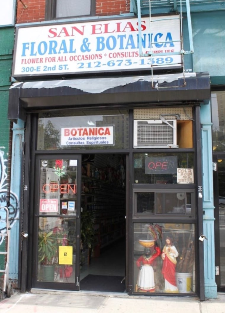 Located in the East Village, San Elias Botanica Flowers offers spiritual readings as well as oils, necklaces and statues of saints.