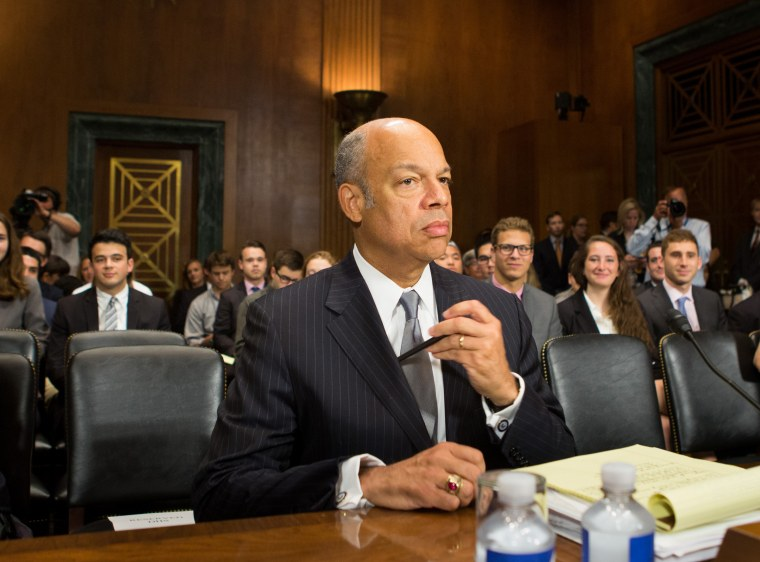 Image: Homeland Security Chief Jeh Johnson prepares to testify