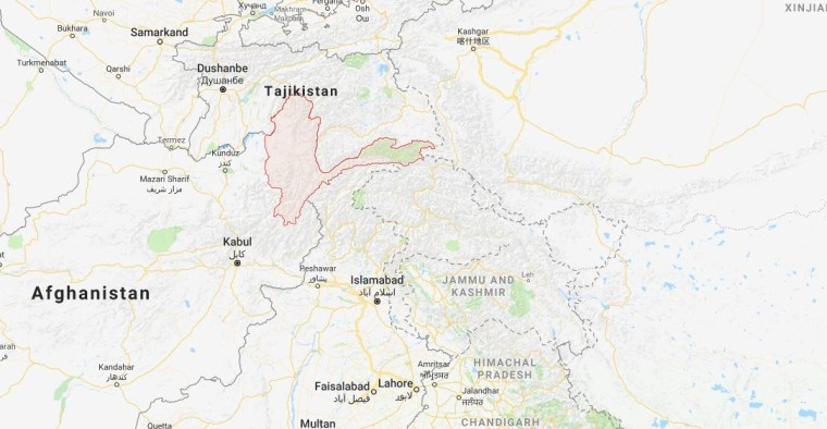 Image: Map shows location of Badakhshan province