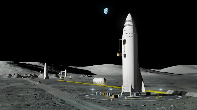 Image: BFR on moon