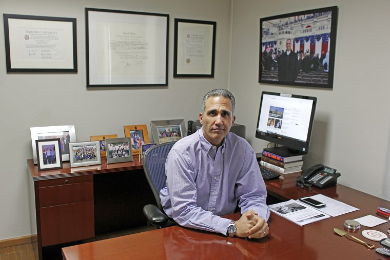 Image: Andres W. Lopez at his office in San Juan, Puerto Rico