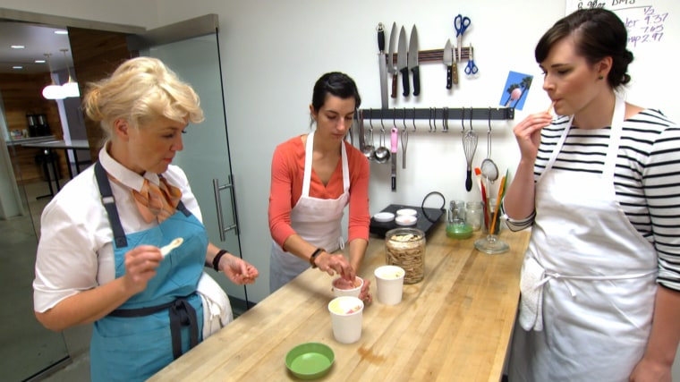 Image: Jeni Britton Bauer (left) says that her company tests every batch of Jeni's Splendid Ice Creams before they go out.
