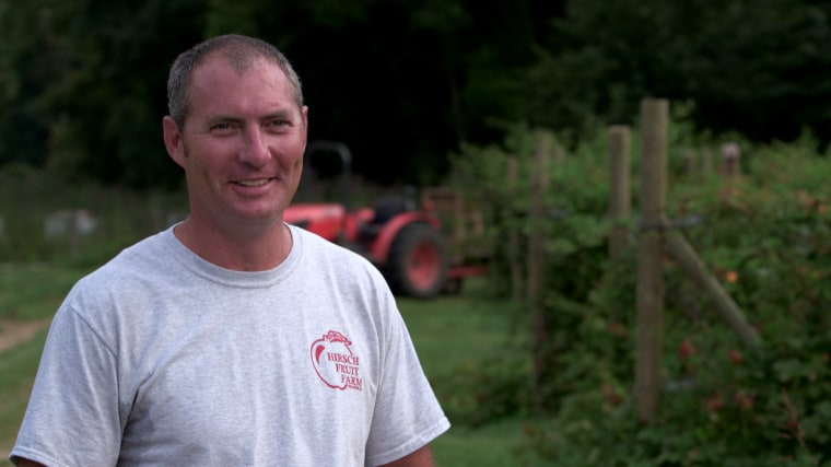 Image: Mike Hirsh is the fourth generation owner at Hirsch Fruit Farms--a supplier for Jeni's Splendid Ice Screams.