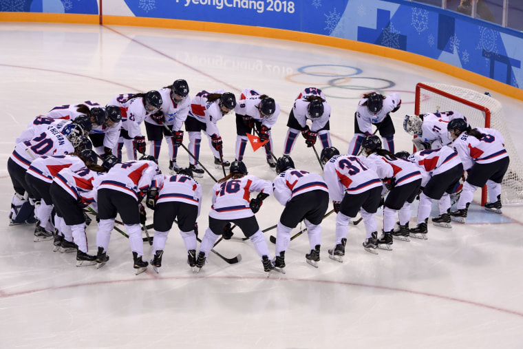 Unified Korean Women S Ice Hockey Team Debuts At Olympics To