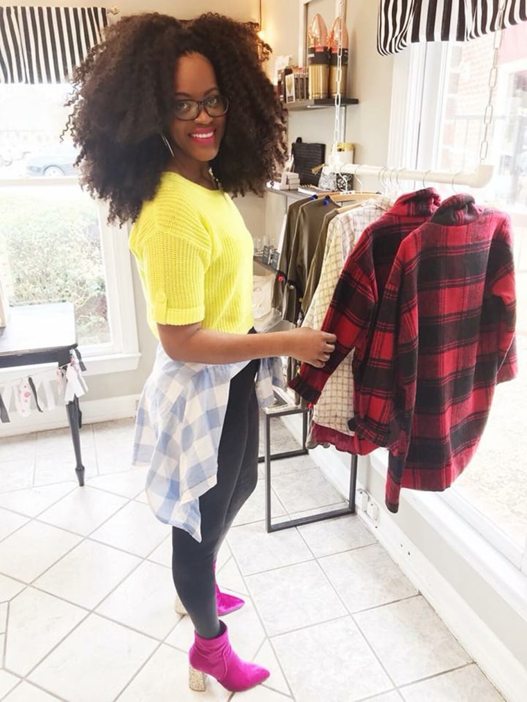 Image: Lakesha Cole in the store she owns.