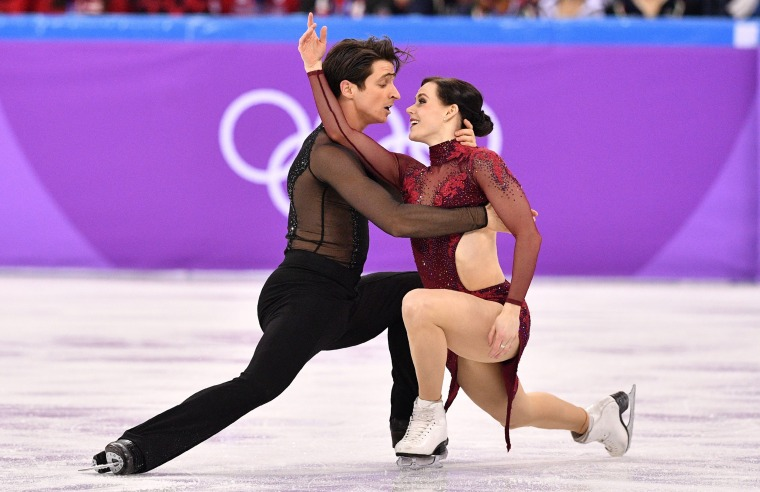 Canada's Tessa Virtue and Scott Moir compete in the team free dance during the Pyeongchang 2018 Winter Olympic Games.